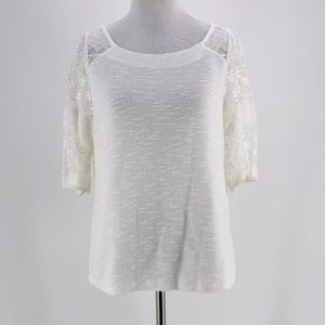 Postmark Anthropologie Women's White Parrell Lace
